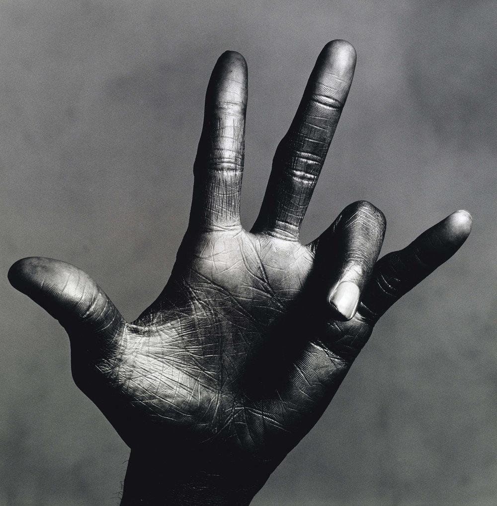 The Hand of Miles Davis (C),  New York, 1986 © The Irving Penn Foundation