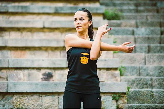 Stretching helps to reduce muscle tension and soreness, prevent joint strains, eliminate lactic acid and much more! Do not underestimate importance of stretching, just 10 min before and after workout but so many benefits 😉