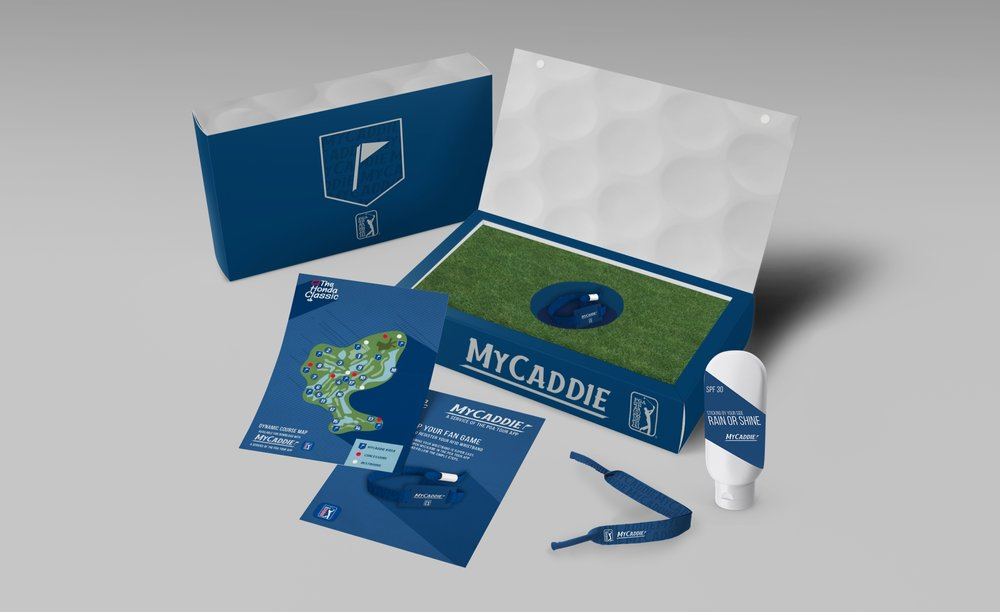 Welcome kit for RFID band - a high quality box that resembles a golf course with map insert