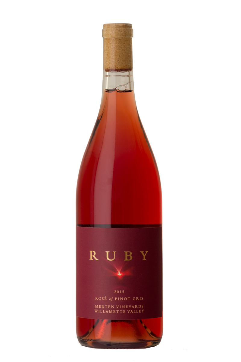 2018 Rosé of Pinot Gris - This wine is vinified completely dry with full skin contact for 13 days giving it a beautifully round, full taste to match it's high acidity. Very few wineries in Oregon make rosé from Pinot Gris, so this is a special wine that's fun to make and to drink.$18