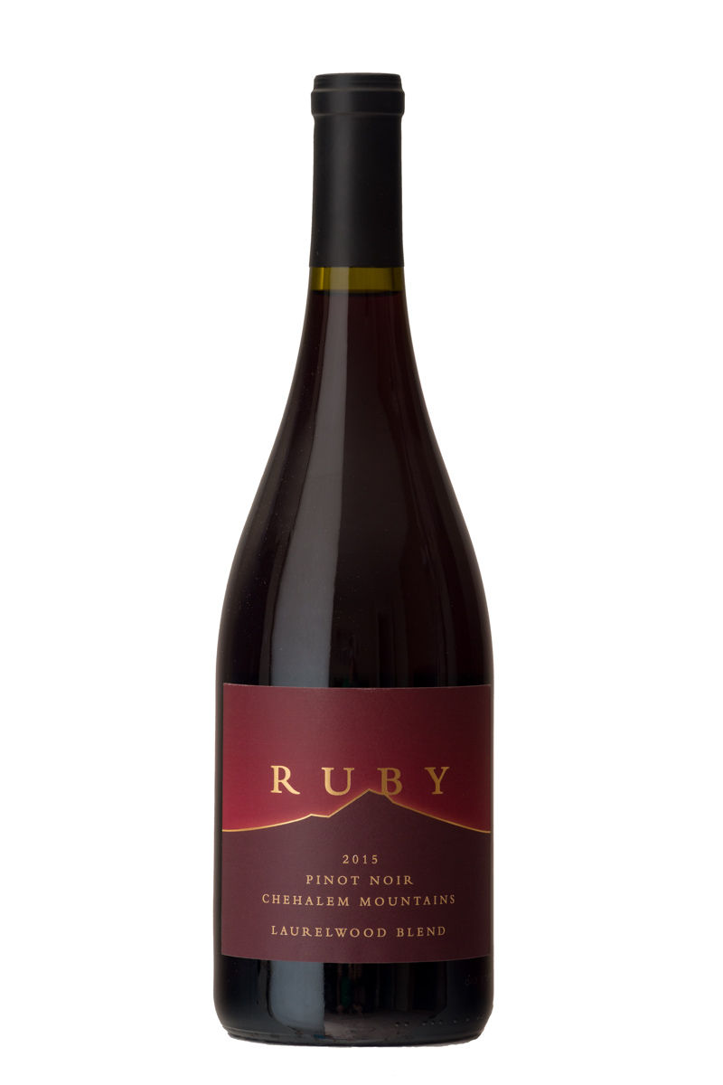 2015 Laurelwood Blend Pinot Noir - Grown on unique Laurelwood soil deposited over many millennia, this Pinot Noir consists of Dijon 777, 828, 115, and Pommard grapes farmed on the Ruby Vineyard estate and neighboring vineyards up to 750 feet elevation. Double gold medal, San Francisco Chronicle Wine Competition.$36