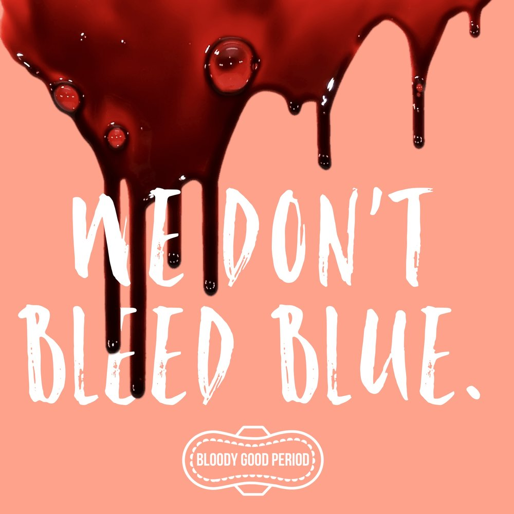 We don't bleed blue