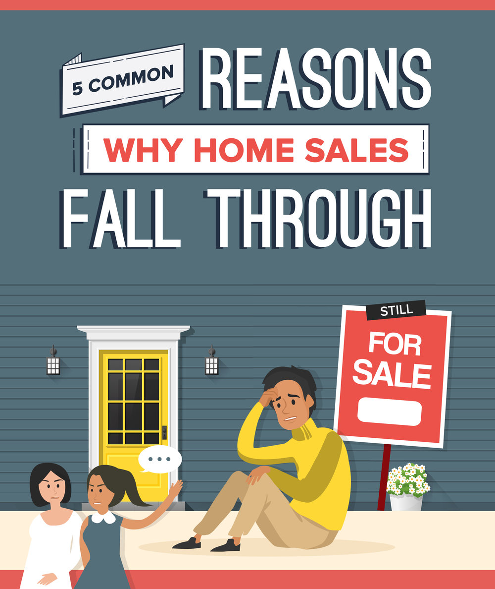 Why Do Home Sales Fall Through? 5 Common Reasons Why The Seller or Buyer Walk Away