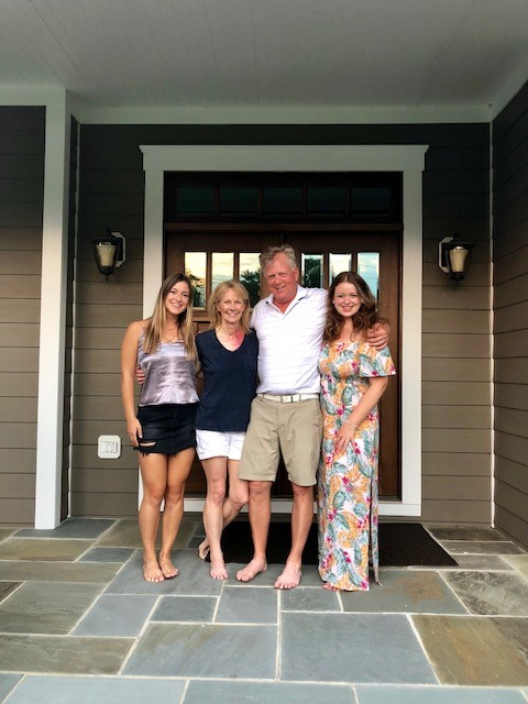 Denise ended treatment ended right before father's day and celebrated with her husband and stepdaughters Katie and Megan.