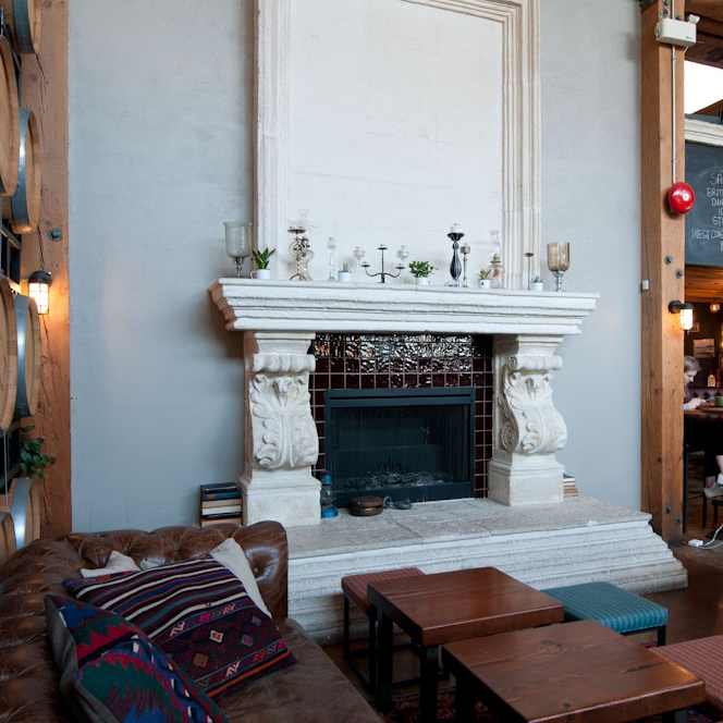 View Hojas Fireplace