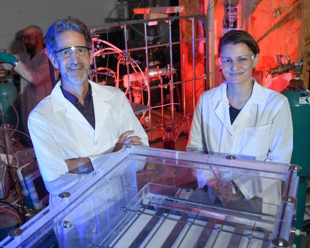 Faculty Water Research - Professors Thomas Holsen and Selma Mededovic Thagard, faculty at Clarkson University's Wallace H. Coulter School of Engineering, have developed a novel and efficient method of cleaning contaminated water by using an electric discharge plasma. Read more