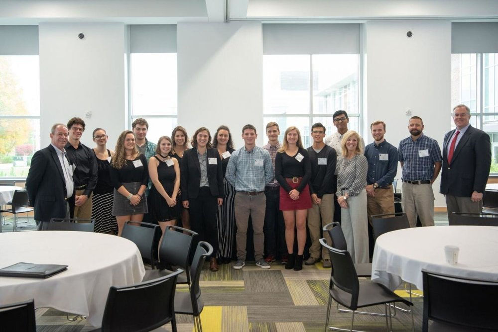 Clarkson Students with Attendees at the Adirondack Research Consortium's Fall Forestry Conference in October 2018