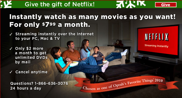 A Netflix ad from 2011