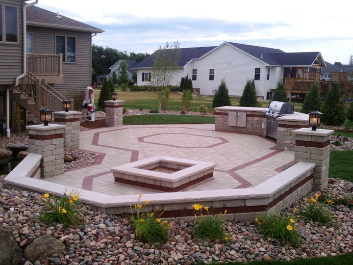 Patio pavers by landscaper in Madison WI