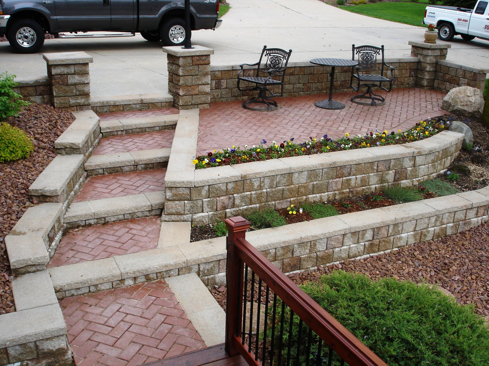 Landscape design with walkway in Madison WI