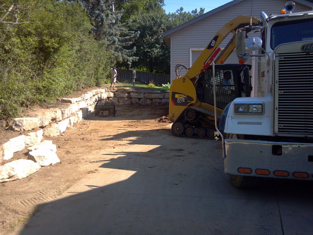 Landscaping company that offers excavation and grading in Madison WI