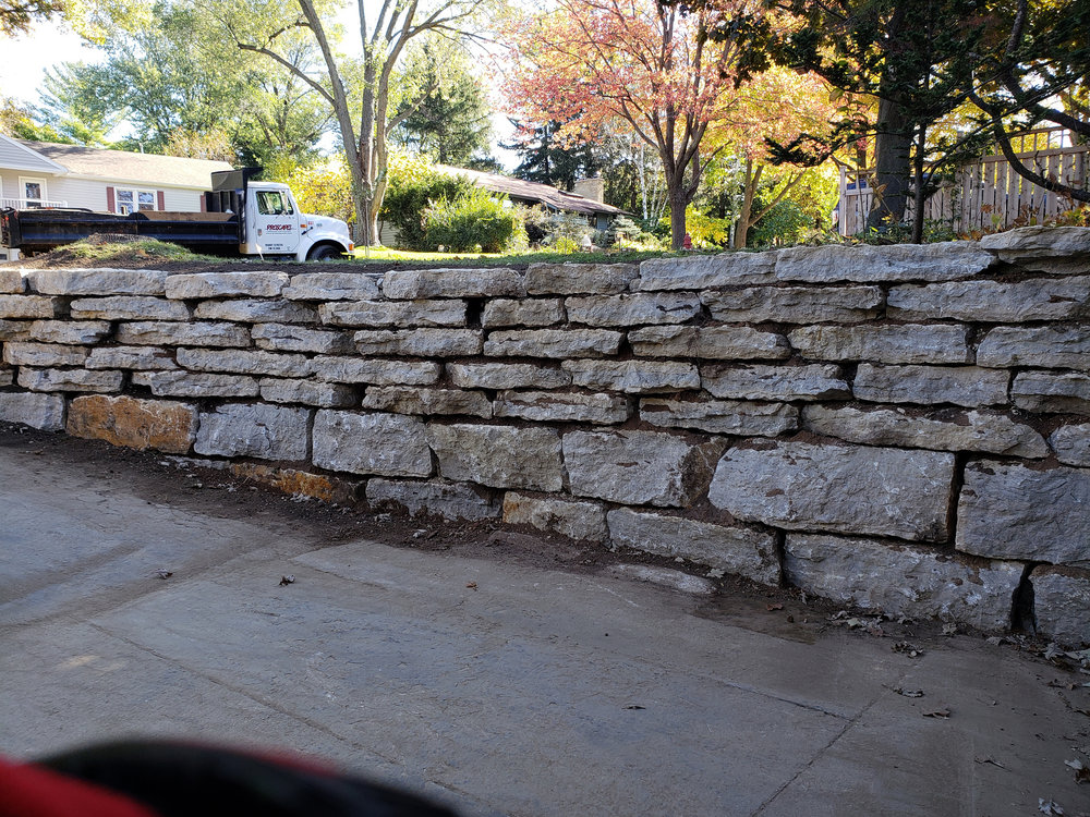 Retaining wall blocks in Madison WI