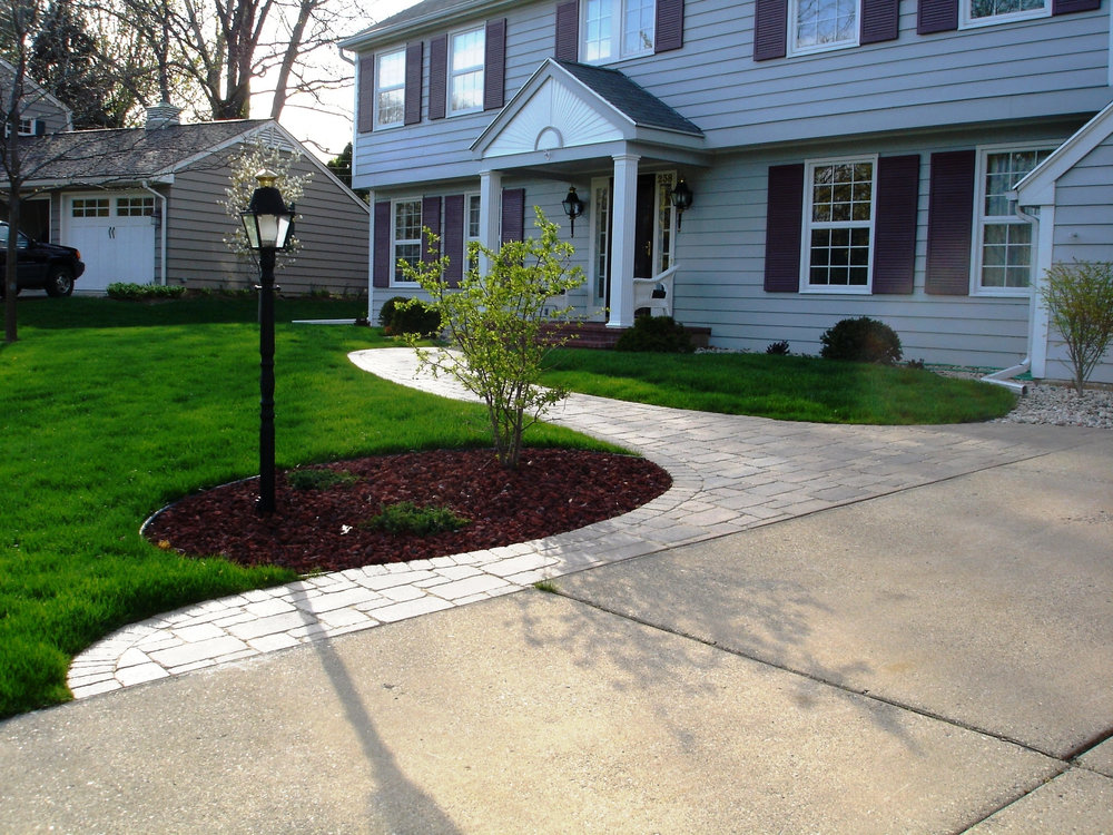 Landscaping ideas for walkways in Madison WI