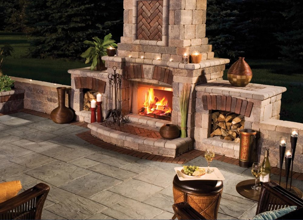 Outdoor fireplaces and outdoor kitchens add a new dimension to your outdoor living fun