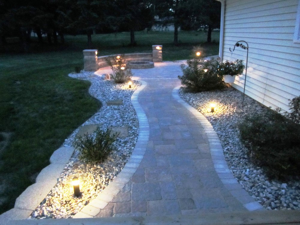 Walkways, Driveways, Decks, Patios and Ponds can all be accented with low voltage landscape lighting in Madison WI