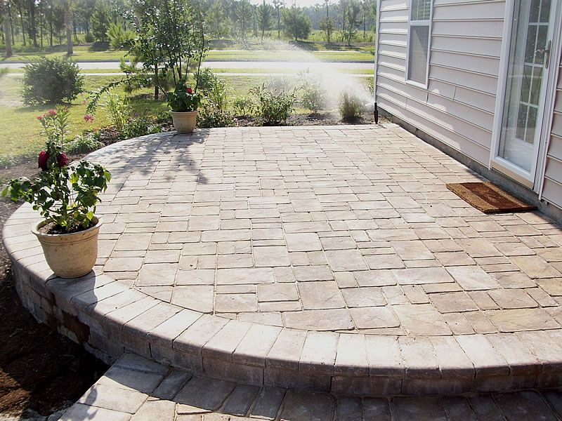 A simple, basic paver patio adds to the curb appeal of new home and requires very little in paver care or maintenance – but offers room to grow.