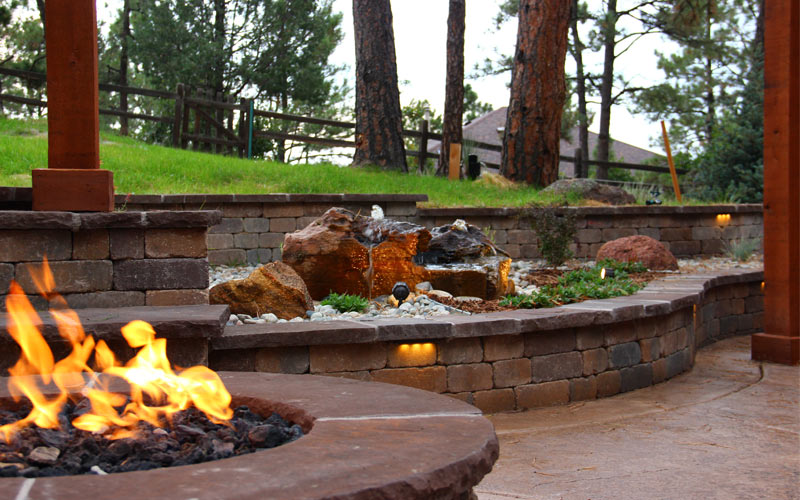 A new hardscape installation takes on an added element of interest with appropriate lighting. Low-voltage lights allow you and guests to navigate the area safer after dark, too.