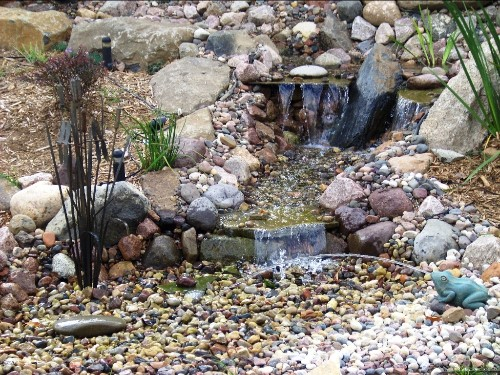 No need for a pond, this popular water feature offers all the benefits of moving water even in small spaces.