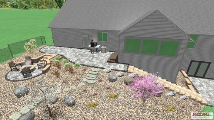 Patio Ideas Landscape Design Cottage Grove Wi Patio Driveway