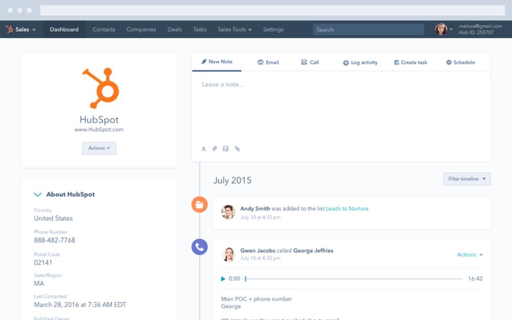 Hubspot CRM, un logiciel parfaitement adapté aux PME