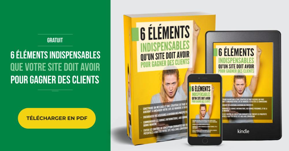 Guide gratuit - 6 éléments indispensables pour votre site