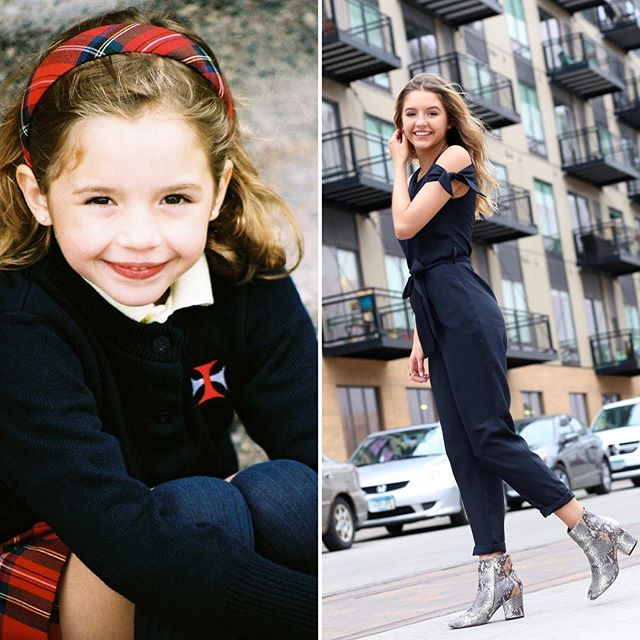 This little @st.odilia girl is polishing her style in the big 🍎🗽❤️@isadoradonohue #tbt . . . . . . . . #throwbackthursday #lifestyle #storytelling #lovemyjob #seniorpictures #familyphotography #lapanta #glowup #timeflies #nyc #fashion #sweetheart #beautiful #kind #kneehighsocks #citylife #headband #minnesota #kindergarten #smile #confidence #gobig