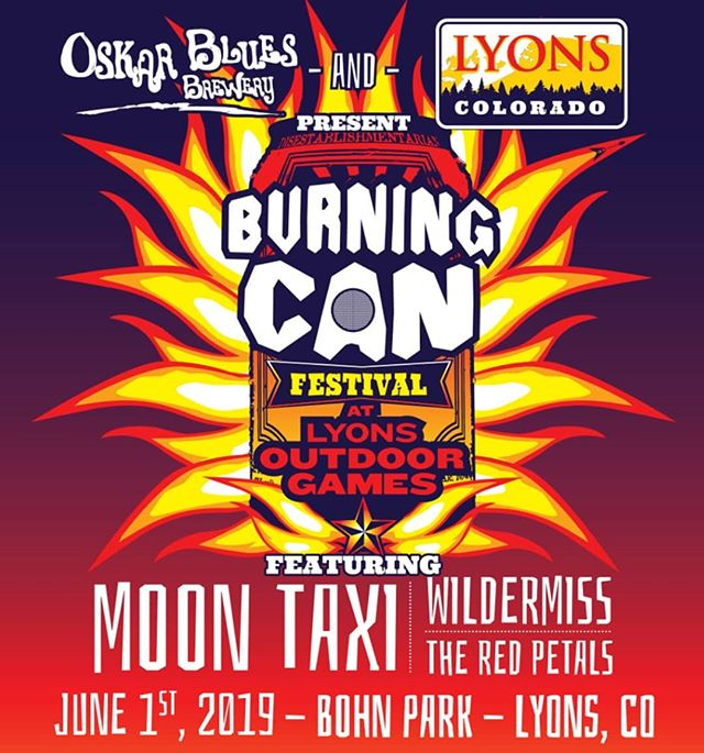 We're reeeeaall excited to share the stage with @wildermiss and @moon_taxi at @oskarbluesburningcan June 1st!! Come out for an awesome day of outdoor games, brews, and tunes! . . . #moontaxi #wildermiss #theredpetals #theredpetalsband #oskarblues #burningcan #outdoorgames #beerfestival #lyons #colorado #mountainblues #livemusic #summerishere