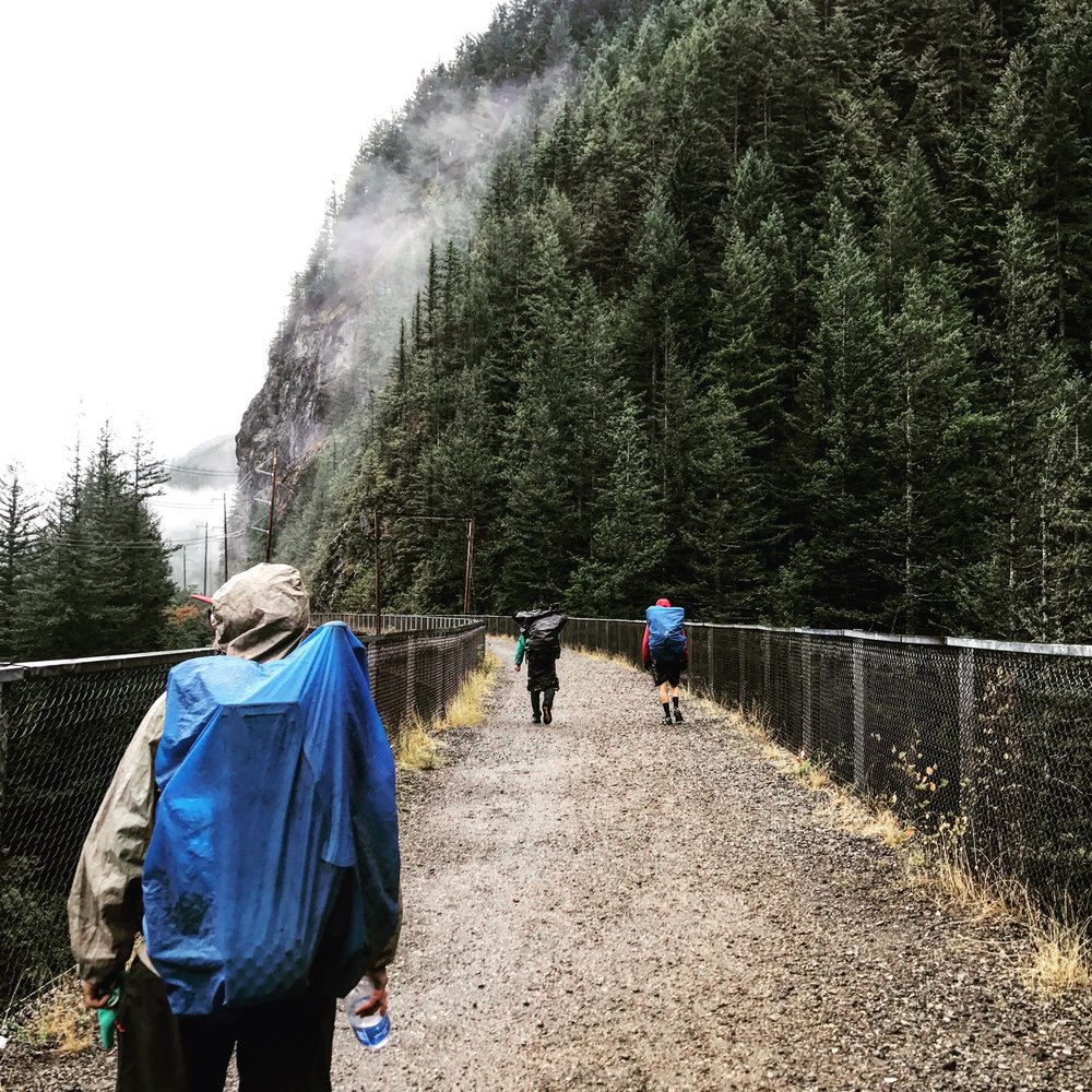 On the Iron Horse Rails to Trails bike path up to Snoqualmie