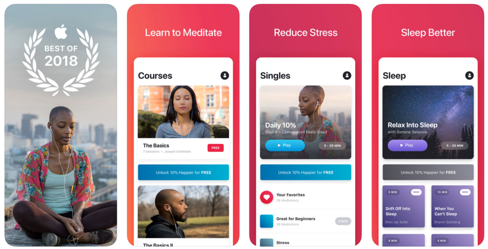 Mindful Momentum's Top 5 Meditation Apps - 10% Happier
