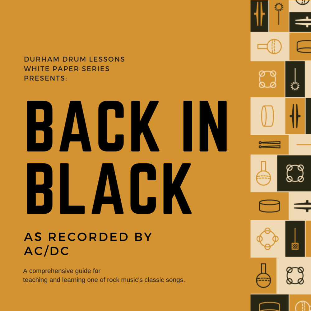 Back in Black Drum Transcription and Teaching Guide