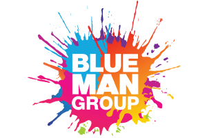 - Blue Man Group is best known for its widely popular theatrical shows and concerts that combine music, comedy and multimedia theatrics to produce a totally unique form of entertainment. The blissful party atmosphere created at the live events has become the trademark of a Blue Man Group experience