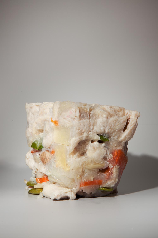 "Moo-Goo Gai Pan #1, 10""x15"", Archival Inkjet Print, 2011.  蘑菇蓋盤一號,25x38公分,無酸微噴藝術紙,2011。"