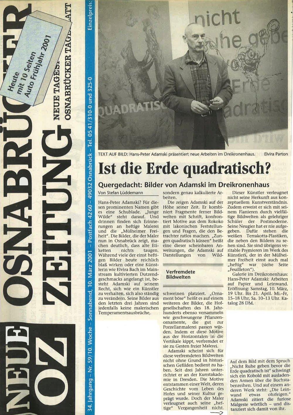 Osnabrücker Zeitung   2001