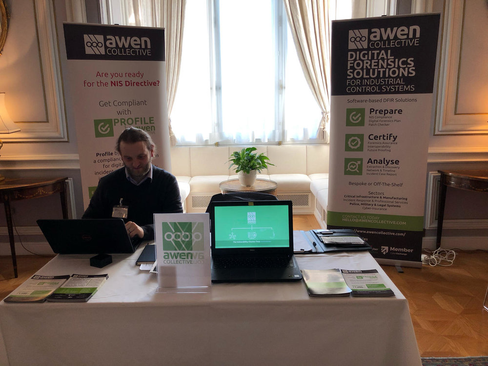 CEO, Daniel Lewis at CEE Cyber Showcase in Vienna - January 2019.