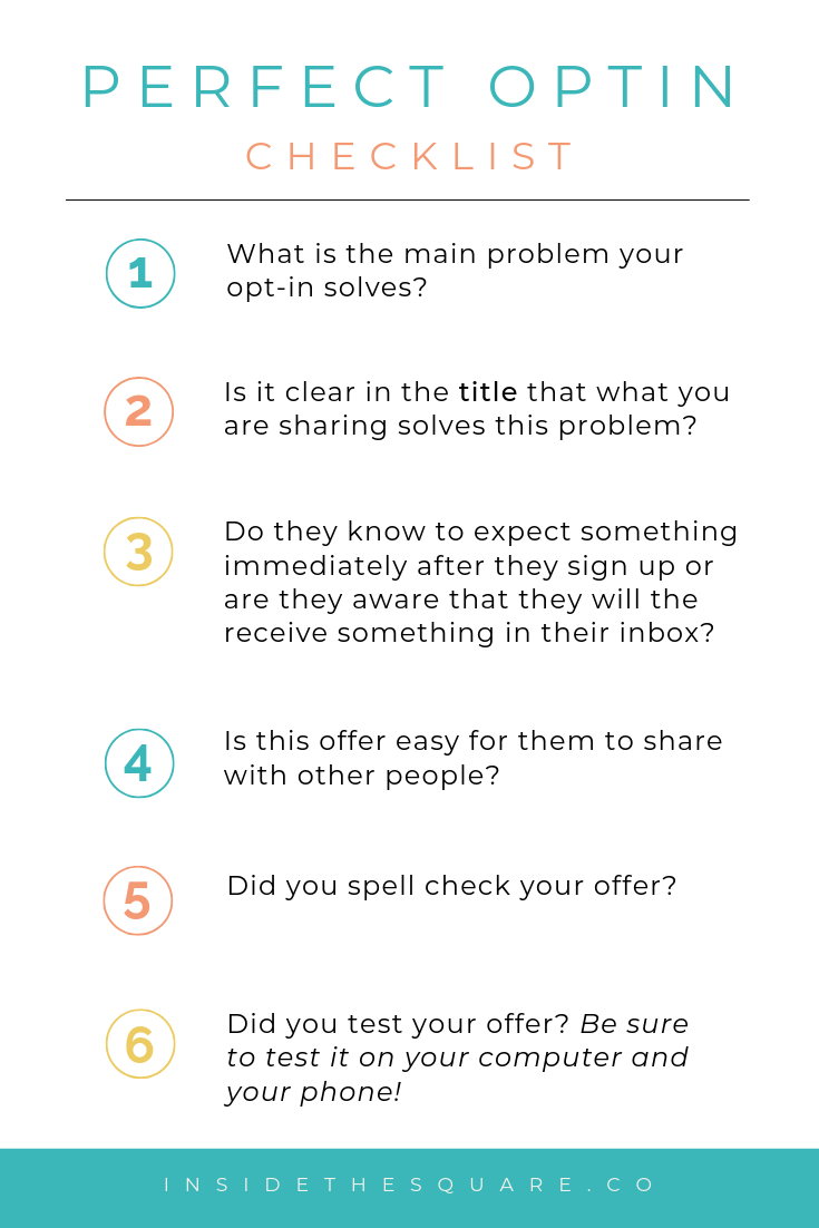 how to write the perfect optin offer for your business // free advice from insidethesquare.co