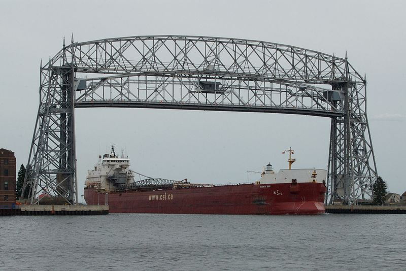 Duluth MN's Aerial Lift Bridge - Our cities most recognizable landmark. When our local candy shop needed something special, DEQ was able to help out!
