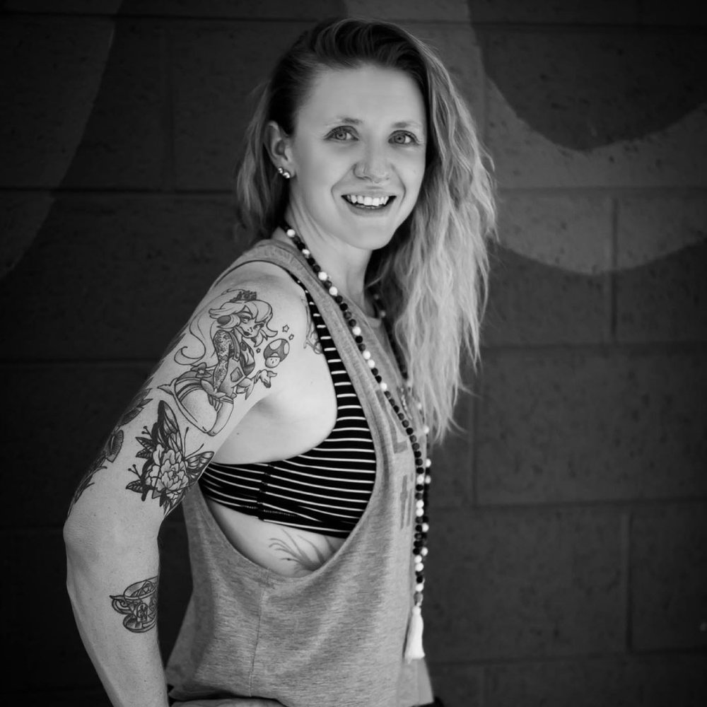 Sarah Dowell - With almost ten years experience, this truly dynamic teacher and Licensed Massage therapist, brings an advanced level of intention and self awareness into the spaces she inhabits and leads. In that time she's grown her teaching career to encompass many modalities including indoor cycling, body conditioning/rehabilitation, and personal training. Sarah possess a deep sense of understanding and appreciation of the art of bio mechanics and the extraordinary inner workings of the human body. Also the owner of Mind Body Mechanism, a Denver based small business, that specializes in meditation, yoga, functional mobility, posture analysis, subtle body mapping, and hands on bodywork. Sarah's background and current commitment to a 300 hr Yoga Teacher training and with a graduation on the horizon the vibrations just get higher with this one. Sarah is extremely passionate about her offerings and the healing that process that must continually take place in all of us both, energetically and physically.