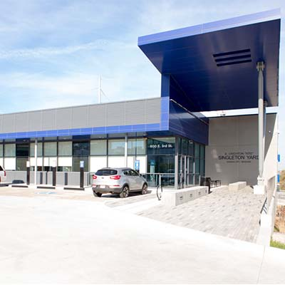 Singleton Yard Vehicle Maintenance Facility for the Kansas City Streetcar System