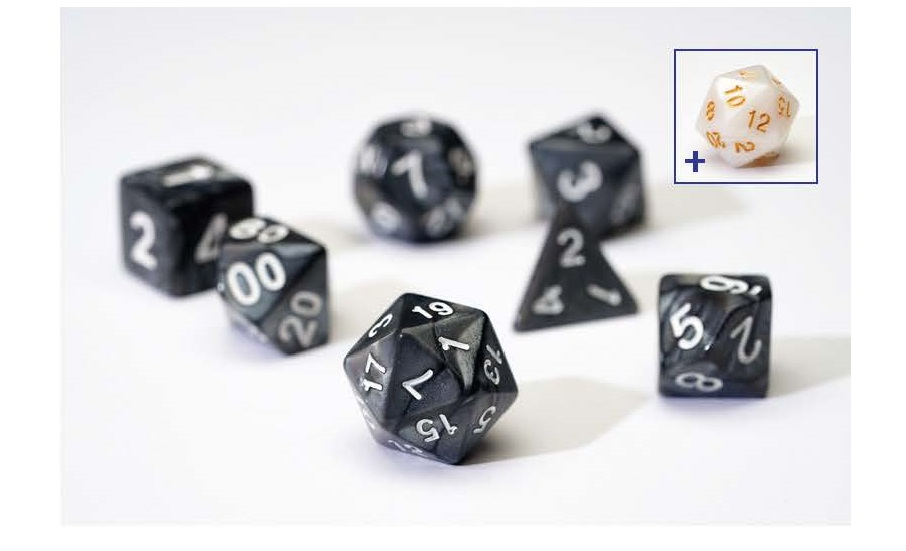 Dice Set - Pearl Charcoal