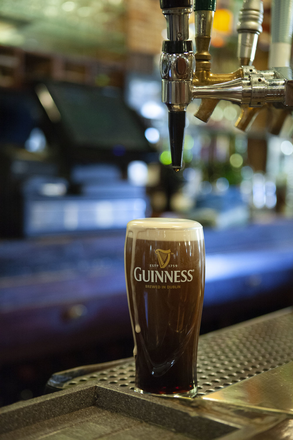 """""""The best Guinness in New Jersey."""" - Serving 20 oz. pints"""