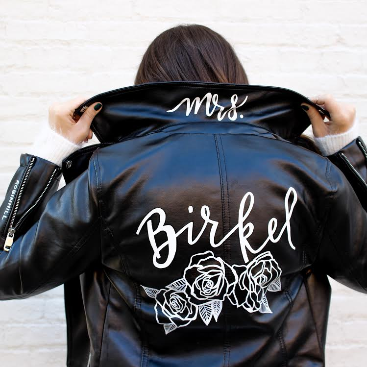 "CHELSEA C. - ""Chelsea created me the most amazing jacket for my wedding day! I gave her a little bit of direction on how I wanted it to look and she worked her magic from there. The piece is elegant, edgy, and stylish. I absolutely cannot wait to wear it on my wedding day!"""