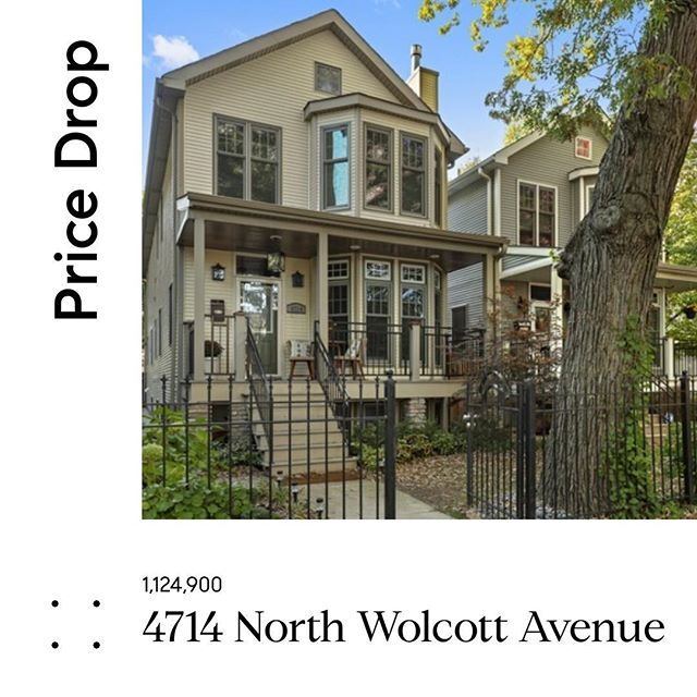 New Price: 1,124,900: 4714 N Wolcott Ave.  Beautiful Ravenswood home on oversized lot, built in 2007, well maintained, open floor plan.  Walk to Metra, Lycee Francais, Mariano's, Lincoln Square. #ravenswoodchicago #lyceefrancaisdechicago #compassrealestate #compasschicago