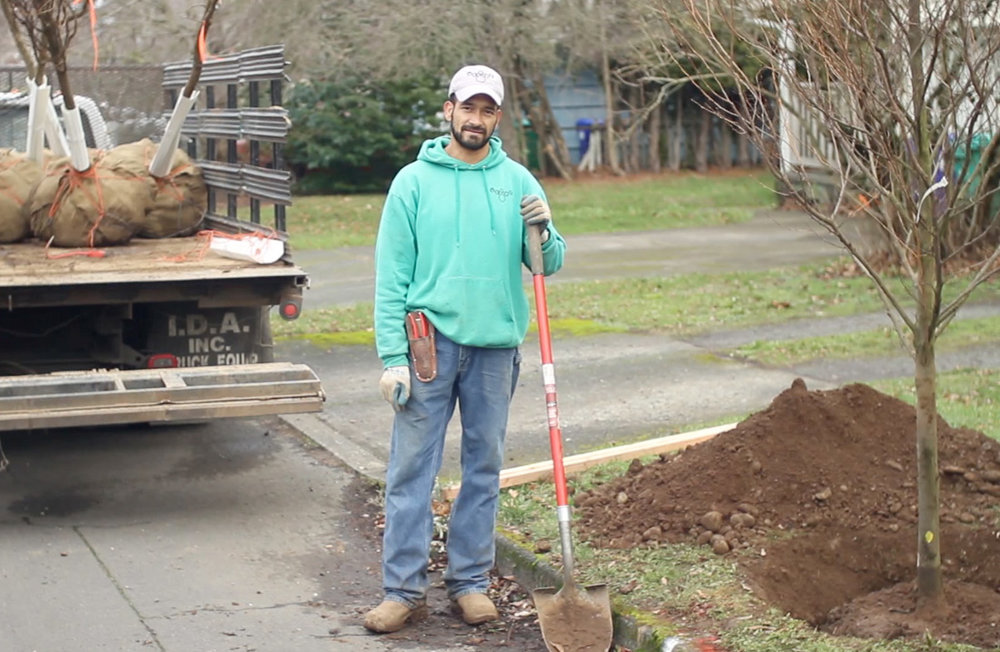 Landscaper Antonia Rojas is one of several dozen people who have earned a living and built skills through Verde's social enterprises.