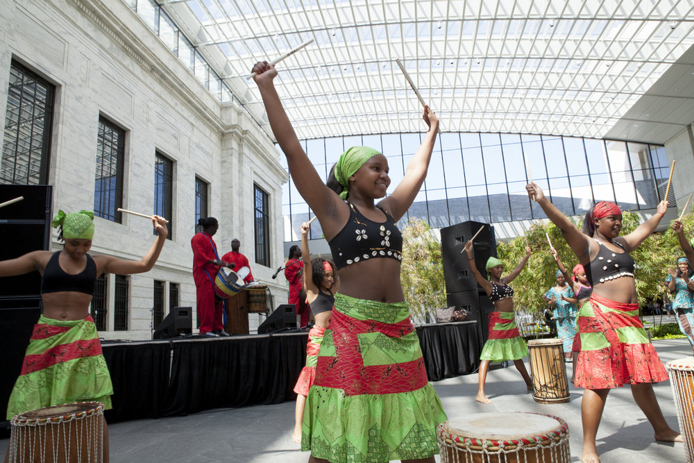 Dancers from the Djapo Cultural Arts Institute, here performing at the Cleveland Art Museum, have been beneficiaries of arts funding through the initiative.