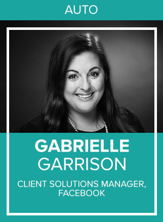 - Gabrielle is on Facebook's Automotive Global Sales Team where she helps dealerships and dealership partners scale their marketing efforts to sell more cars on Facebook and Instagram.Click for more