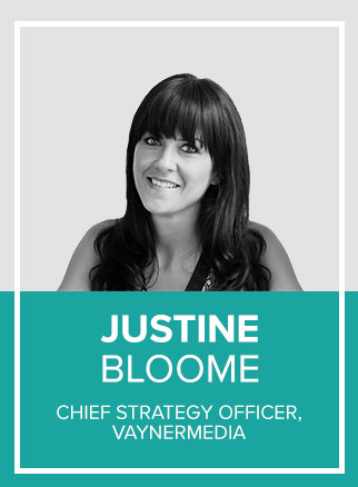 "- Digital-first, full-service agency, VaynerMedia hired their first-ever Chief Strategy Officer in July 2017, Justine Bloome, to lead a ""full stack"" team of empathetic, strategic thinkers and practitioners at the intersection of Culture and Attention. Prior to joining VaynerMedia, Justine created the Catalyst team at media agency, Carat USA as EVP, Head of Strategy and Innovation. She cultivated a diverse team of strategists, technologists, and creative media thinkers."