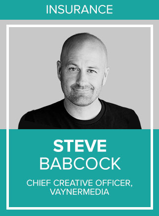 "- Steve Babcock is chief creative officer at digital agency VaynerMedia, where Babcock brings a unique perspective to the business. His media-agnostic approach always puts the solution first and considers every possible outlet, from prime time TV to Periscope. His practicality keeps the focus firmly on the business impact and not on flashy industry awards. Babcock's innovative nature breeds solutions beyond typical advertising, and his favorite professional achievements include inventing the famous, and impactful Domino's Pizza Tracker, as well as his personal viral initiative to curb distracted driving known as ""Red Thumb Reminder."""