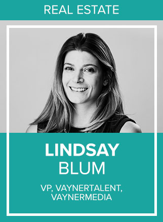 - Dreamer, doer, camp counselor at heart… Lindsay is an adventurous spirit fixated on finding new ways to tell great stories. Lindsay currently runs VaynerTalent, a division of VaynerMedia dedicated to helping emerging and established Talent personalities (musicians, artists, executives, and other visionaries) build their personal brands and businesses through content production and distribution. In this role, Lindsay combines her 4+ years of experience working with Fortune 100 & 500 clients on their digital marketing strategies and first-mover, integrated campaigns with over 7 years of experience in activation, PR, entertainment marketing and artist management at Grey Agency in NYC and William Morris Agency/WME in LA.