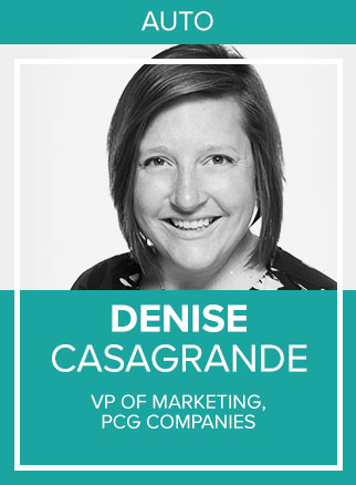 - Denise K. Casagrande is the Vice President of Marketing at PCG Digital. Starting in influencer marketing and eCommerce in 2013, Denise has made a career out of testing and writing about social advertising advancements as they're put into place. Her current passion is using these advancements to better help the automotive industry not only understand why they need social marketing, but helping auto teams implement these practices. She currently resides at the Jersey Shore, where she co-wrote her first book Can You See Me Now? and created The Automotive Social Media Sales Funnel. Aside from speaking out on the road, her day to day at PCG is spent leading her team, growing the companies reach, and helping dealerships discover their brand voice.Socials: IN, TW, IG
