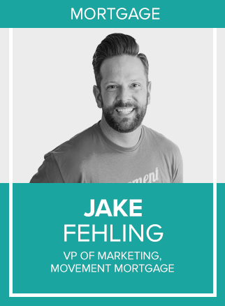- Jake has led a 17-year career across sales, marketing and communications roles in the sports, health care and financial services industries. He is the Vice President of Marketing for Movement Mortgage, a perennial member of the Inc. 5000 list. Jake and his team coach Movement's more than 1,000 loan officers on personal branding, reputation management, social media strategy and lead generation. He hosts the Mortgage Impact Podcast and speaks at major mortgage, marketing and social media conferences across the country.Socials: IG, TW
